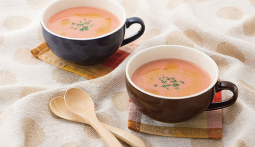 ダイエット中の方におすすめ!豆乳ヨーグルトで作るコクまろスープ&サラダ