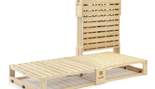 グッドデザイン賞に輝いた コンパクト収納でぬくもり感じる桐のベッド
