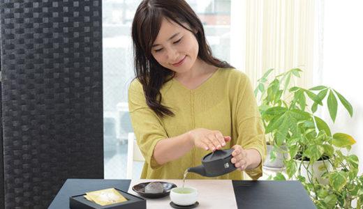 富士山をイメージした急須 静岡県の希少なお茶「白葉茶」で日本の夏を